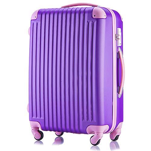 (トラベルデパート) 超軽量スーツケース TSAロック付 ダイヤルロック【一年修理保証】カバー付 (Mサイズ(3-...