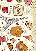 igsticker ポスター ウォールステッカー シール式ステッカー 飾り 210×297㎜ A4 写真 フォト 壁 インテリア おしゃれ 剥がせる wall sticker poster 007770 ユニーク カラフル 建物 お菓子 車
