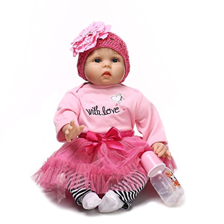 rayish Rebornベビー人形ソフトSilicone 22インチ55 cm新生児ベビー人形Lifelike Vinyl Dolls BearブルーSuit人形