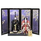 雛人形 アウトレット品 立雛平飾り 正装十二単(2人) 幅135cm 183to2131 押し花屏風