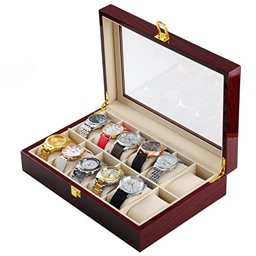 [해외]시계 케이스 12 개 수납 컬렉션 박스 | NET-O/Watch case 12 storage compartment collection box | NET-O