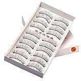 Feteso 10ペアセット つけまつげ 上まつげ Eyelashes アイラッシュ ビューティー まつげエクステ レディース 化粧ツール アイメイクアップ 人気 ナチュラル 飾り ふんわり 装着簡単 綺麗 変身 (A)