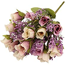 MagiDeal Artificial Roses 20 Heads Bouquet For Home Garden Party Decoration - Purple, as described