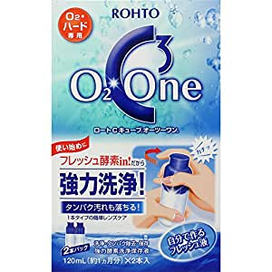 ロートCキューブオーツーワン 酸素透過性ハード(O2レンズ)・ハードコンタクトレンズ専用 強力酵素洗浄保存液 120ml×2個パック 約2ヶ月分