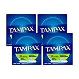 Tampax Cardboard Applicator Tampons, Super Absorbency, Unscented, 20 Count - Pack of 4 (80 Total Count) (packaging may vary)