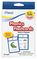 Mead Flashcards, Phonics, Grades K-2, 3.62 x 5.25 Inches, 55 Cards (63144) by Mead