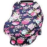 Breastfeeding Cover, Aolvo Baby Nursing Cover Versatile Baby Car Seat Cover Safe & Soft [Nursing Scarf, Shopping Cart Covers, Stroller Cover] Mom's Choice for Newborn Boys and Girls