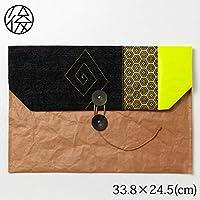 お出かけ封筒ヨコ型(A4サイズ)004米袋封筒のちほどHandbag made of rice bag