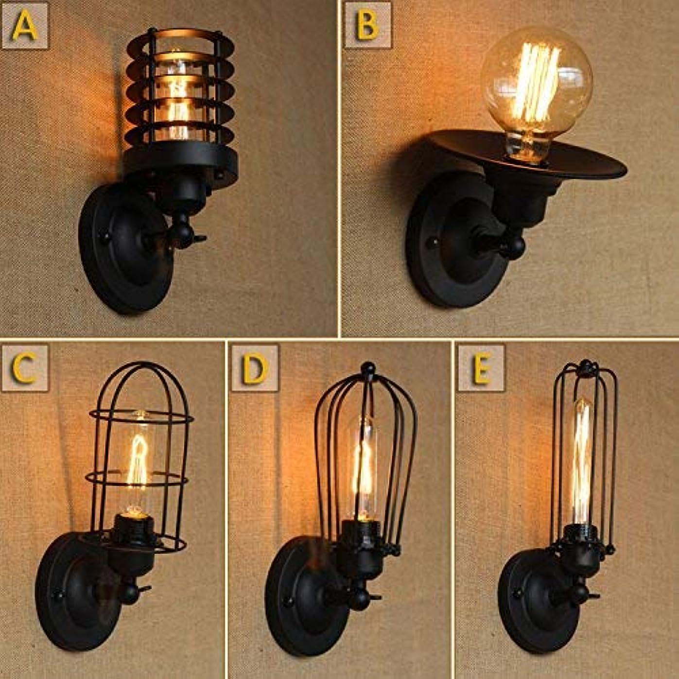 損失姉妹アマチュア壁面ライト, 110-220Vウォールライトウォールマウントライト燭台高齢スチール仕上げランプ、スタイル AI LI WEI (Color : B Style)