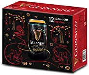 Guinness Foreign Extra Stout Beer Can CNY Pack, 320ml (Pack of 12)