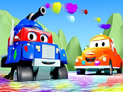 カーシティーのカール・スーパー・トラックとタンクのカール&バイクトラック|子供向けトラックアニメ
