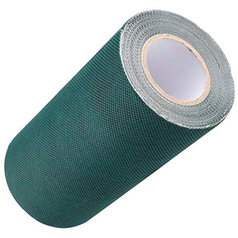 除去慣性つまらないDOMO 人工芝接着布 人工芝粘着テープ 芝スプライスベルト 15cm*5M グリーン