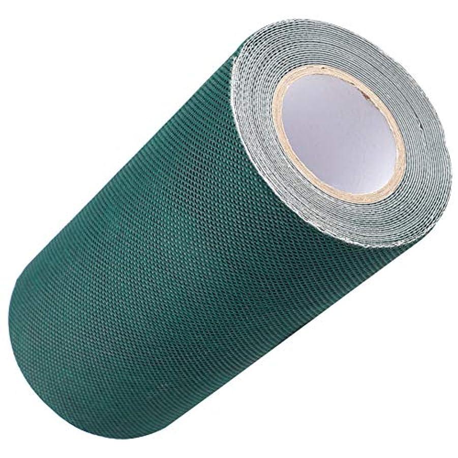 粘液売上高間に合わせDOMO 人工芝接着布 人工芝粘着テープ 芝スプライスベルト 15cm*5M グリーン