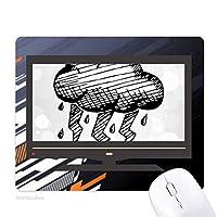 雷の曇りのハンドペイントパターン ノンスリップラバーマウスパッドはコンピュータゲームのオフィス
