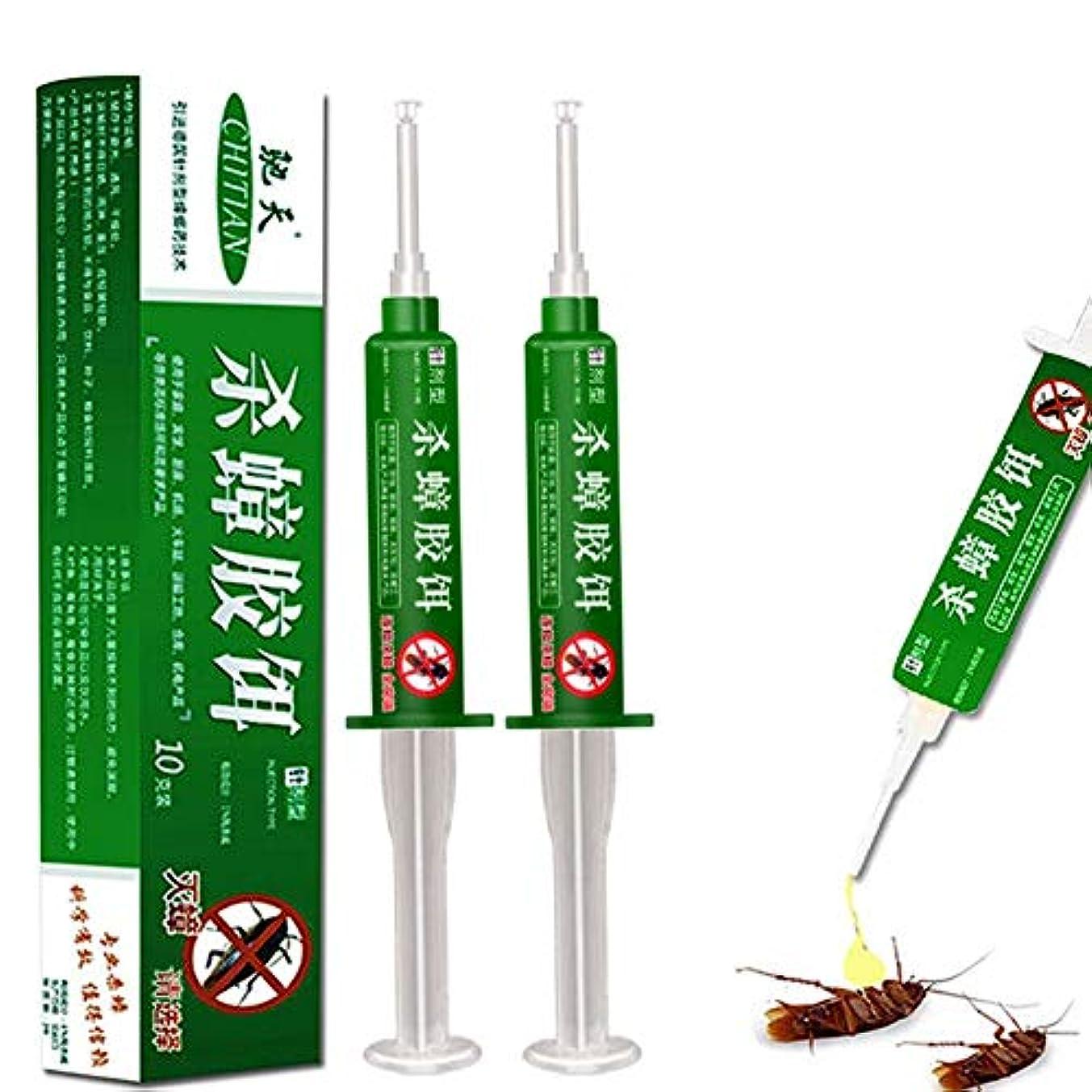 間違い葉を集めるパンダJuhon 総本店車の殺虫剤 Advionのゴキブリのゲルの餌