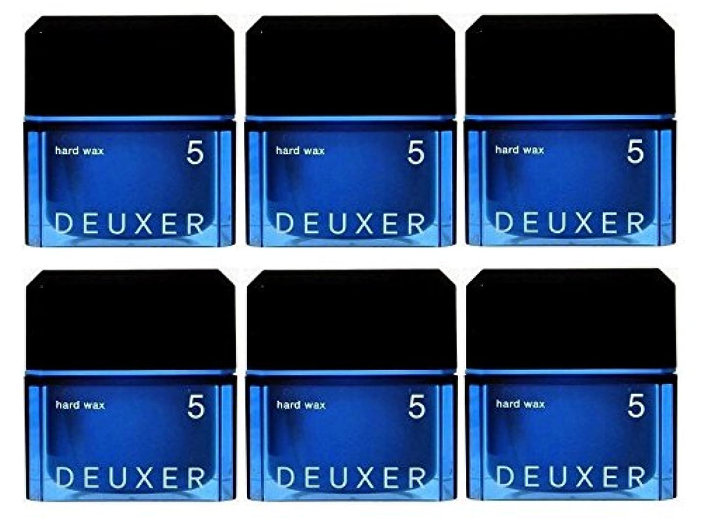 タップなぜなら可能【6個セット】ナンバースリー デューサー ハードワックス 5 80g