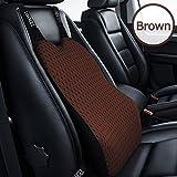 Felimoa 高級 車用 クッション 《 改良版 》 ズレない 固定型 安定 低反発クッション 腰痛 対策 ランバーサポート シートクッション カバー取り外し出来るので衛生的 高品質 ドライブクッション (ブラウン)