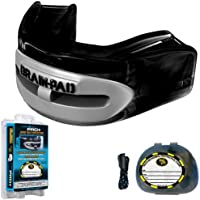 Brain-Pad PRO+PLUS Strap/Strapless Mouthguard - ADULT - Black/Gray by Title Boxing