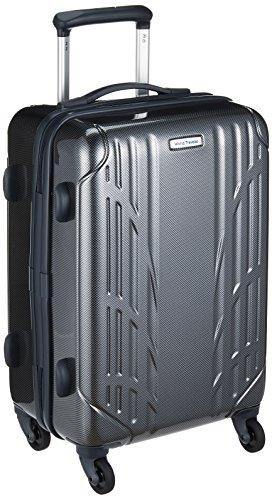 Traveler ワールドトラベラー スーツケース World Traveler キャリーケース NAVAGIO ナヴァイオ 機内持ち込み ファスナー 30L 1~2泊 小型 Sサイズ ハード 旅行 出張 軽量 キャスターストッパー ACE エース 06151 ブラックカーボン 01