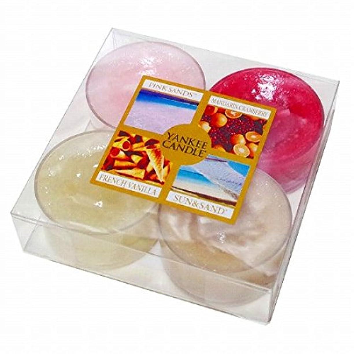 野生変換顧問カメヤマキャンドル(kameyama candle) YANKEE CANDLE クリアカップティーライト4個入り アソート 「 スイート 」