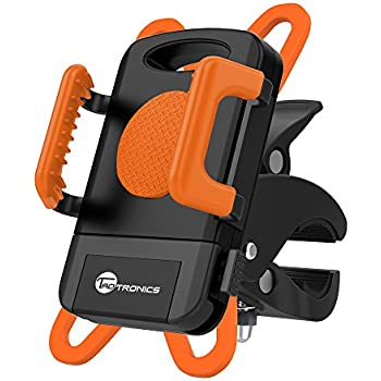 TaoTronics 自転車ホルダー 360度回転可/装着簡単/片手操作/GPS,ナビ,スマホ等固定用 iPhone & Android等多機種対応 TT-SH013 オレンジ