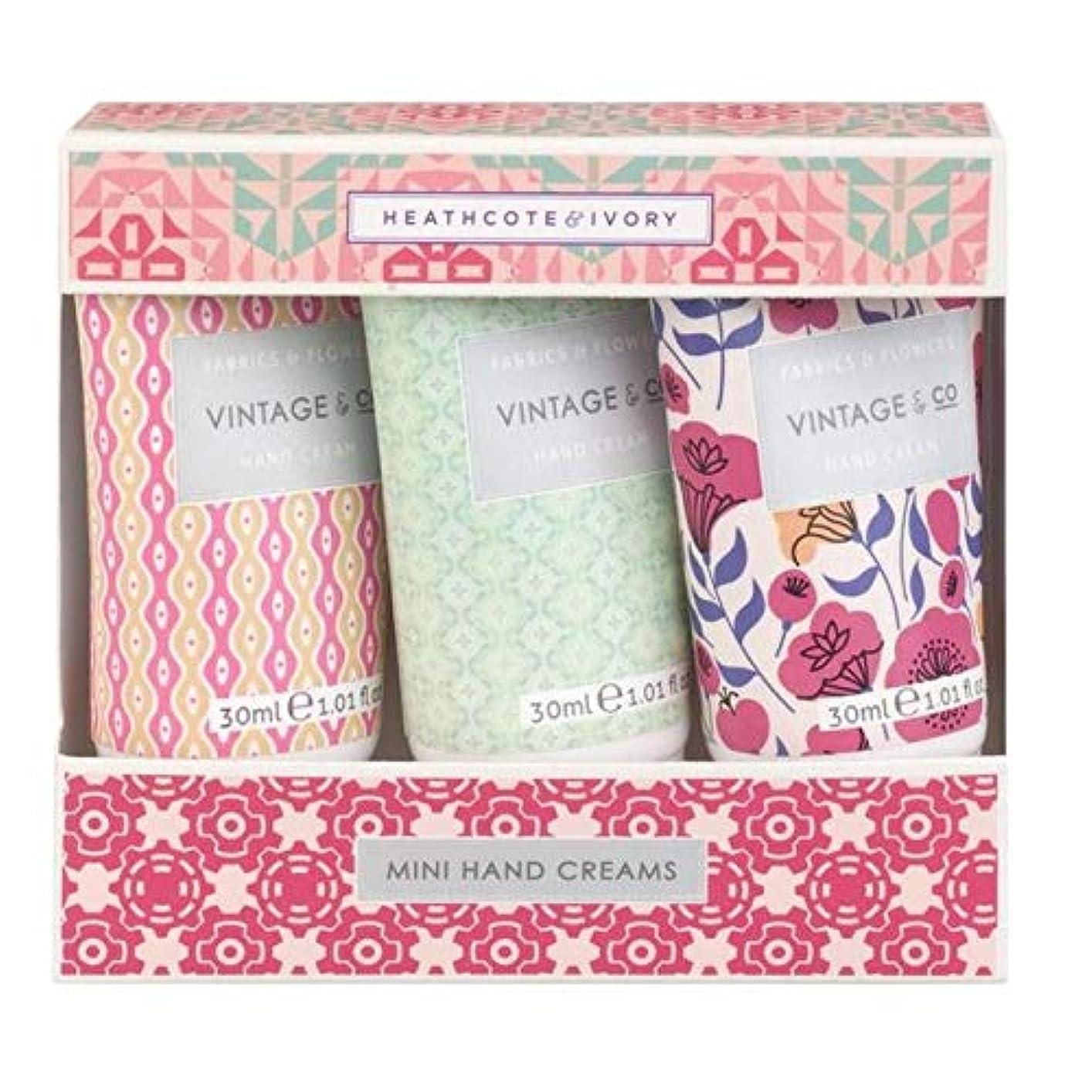 商業の鉛筆バズ[Heathcote & Ivory ] ヒースコート&アイボリーファブリック&フラワーミニハンドクリーム - Heathcote & Ivory Fabric & Flowers Mini Hand Creams [並行輸入品]