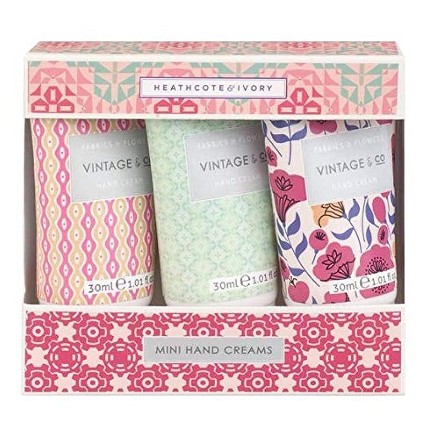 衝動しょっぱい望む[Heathcote & Ivory ] ヒースコート&アイボリーファブリック&フラワーミニハンドクリーム - Heathcote & Ivory Fabric & Flowers Mini Hand Creams [並行輸入品]