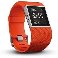 Fitbit フィットビット フィットネス スーパー ウォッチ Surge GPS内蔵 運動 睡眠 健康管理 活動量計 アクティブトラッカー Tangerine タンジェリン Lサイズ 【日本正規品】 FB501TAL-JPN
