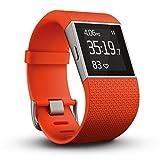 Fitbit フィットビット フィットネス スーパー ウォッチ Surge GPS内蔵 運動 睡眠 健康管理 活動量計 アクティブトラッカー Tangerine - Best Reviews Guide