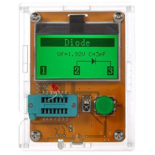 KKmoon 多機能 LCR-T7 トランジスタテスター LCDバックライト トライオード/キャパシタンス/抵抗/インダクタンス測定 MOS検出器