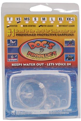 DOCS 耳栓 プロプラグ リーシュ付き シリコン製 クリア