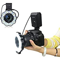 Orsda カメラのフラッシュのマクロ環式 SL-102C マクロ撮影 LED リング フラッシュ フィルイン ライト + マクロ 拡張 チューブリング TTL AF オートフォーカス Canon EF/EF-S 40.5mm 52mm 55mm 58mm 62mm 67mm 72mm 77mm レンズ用 OR186