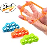 Hand Strengthener Finger Stretcher Resistance Bands Hand Extensor Exerciser Finger Grip Strengthener Strength Trainer for Forearm Exercise Guitar Finger Strengtheners and Rock Climbing Grips (3pcs)
