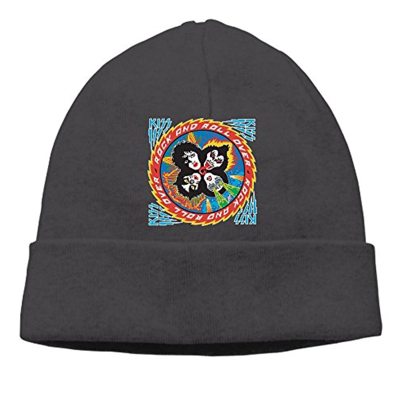 ニット帽 キッスアーミー キッス 世界一 熱い キャップ 帽子 男女兼用 通気性 6色展開 フリーサイズ One Size ブラック