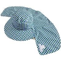 The Hatter(ザ・ハッター) メンズ レディース ガーデニング 農作業 帽子 リバーシブルフード おしゃれ ハット UVカット 紫外線 日焼け つば広 春 夏 秋 折りたたみ 首 ガード かわいい サンシェード シェード