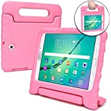 Samsung Galaxy Tab S2 9.7 Kids case, [2-in-1 Bulky Handle: Carry & Stand] Cooper Dynamo Rugged Heavy Duty Children's Cover + Handle, Stand & Screen Protector - Boys Girls Elderly (Pink)