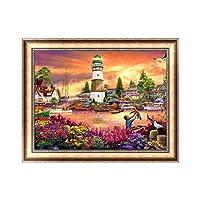 JAGENIE 5D Diamond Embroidery Landscape DIY Craft Painting Cross Stitch Tool Home Decor 40 * 30CM