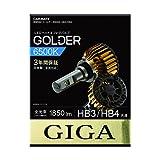 カーメイト 車用 ヘッドライト ハイビーム用 フォグライト LED GIGA ゴールダー HB3/HB4共通 6500K 1850lm 日本製 車検対応 3年間保証