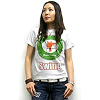 Swing 60 Tシャツ (ホワイト×グリーン) sp019tee -G- モッズ UK Mod's ロックTシャツ ターゲット