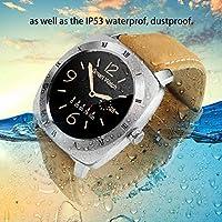 DM88 Bluetoothスマートウォッチ多機能腕時計ポータブル歩数計(カラー:シルバー)