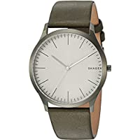 Skagen Jorn Green Calfskin & Stainless Steel Watch SKW6424