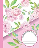 COMPOSITION NOTEBOOK: Beautiful Pink Rose Flowers Notebook and Journal with Wide Lined Ruled Paper Pages for Girls and Women, Perfect for Writing Notes and Exercise at Home, School or College