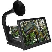 Fosa 携帯電話のスクリーン拡大鏡 iPhone、3DのHDビデオの拡大鏡 ポータブルスマート拡大鏡のブラケット 屋内、キャンプ、ミニシアターと観光に対応