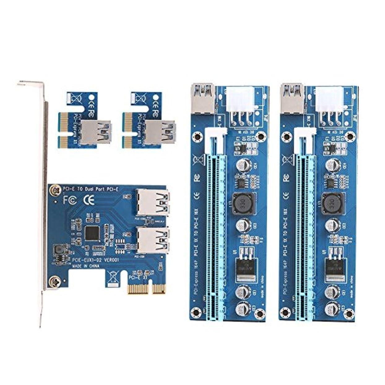後世災害レールPCI - E toデュアルUSB 3.0コンバータカードとデュアルPCI - Eスロット6ピンアダプタカード