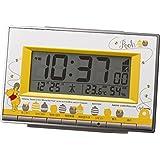 リズム時計 Disney ( ディズニー ) くまのプーさん 電波 目覚まし キャラクター 時計 イエロー 8RZ133MC08