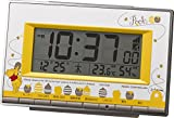 Disney ( ディズニー ) くまのプーさん 電波 目覚まし キャラクター 時計 デジタル R133 黄 リズム時計 8RZ133MC08
