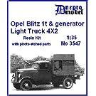 オペルブリッツ 8 KW Flak探照灯発電機搭載 1tトラック フルキット Opel Blitz 1t & generatr Light Truck 4×2 1/35 [3547]