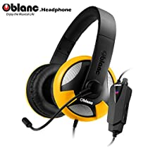 【Oblanc】 5.1chサラウンドサウンド搭載FPSゲーム最適化ヘッドセット UFO NC2-4-YR-TW イエロー【日本総代理店製品】