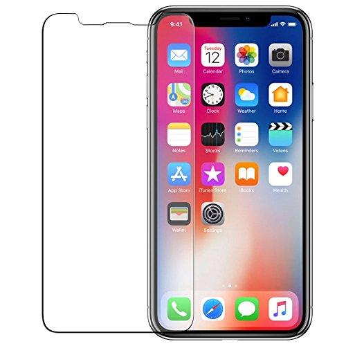 iPhone X ガラスフィルム,RINNKI 業界最薄の0.15mm型 2.5D超クリア 極高硬度9H 高鮮明度 高感度タッチ iPhone X フィルム 専用