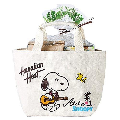 ハワイアンホースト (Hawaiian Host) スヌーピー トートバッグセット (マカデミアナッツ チョコレート&チョコチップ クッキー) a【ハワイ 海外土産 輸入食品 スイーツ】